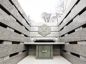 写真:永代合祀墓「ついのすみか」中央部